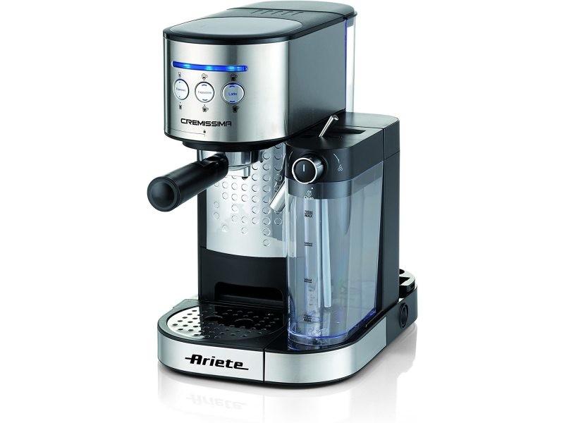 Machine à café expresso de 1l 1470w gris noir