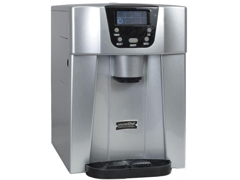 Machine à glaçons 140w 12kg/24h et distributeur d'eau silver - hzb12eau hzb12eau