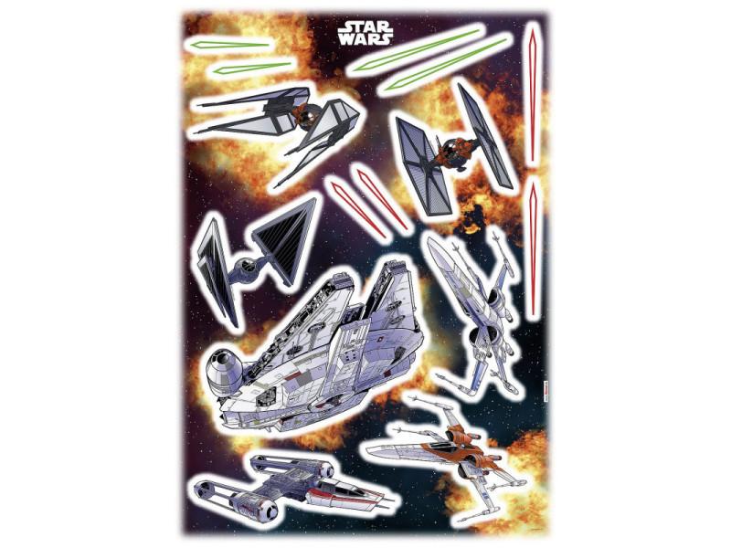 15 stickers géant vaisseaux star wars 50 x 70 cm