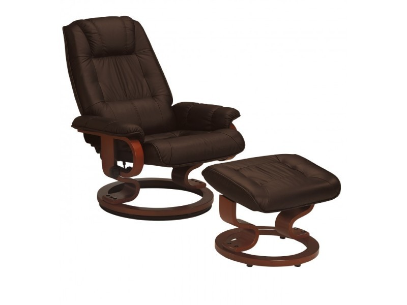 fauteuil de relaxation cuir moka excelly l 84 x l 76 x h 104 neuf vente de. Black Bedroom Furniture Sets. Home Design Ideas