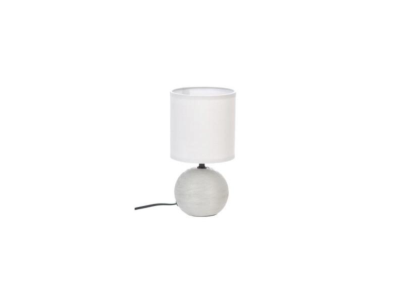 De Céramique Lampe Gris Atmosphera H25 Clair Vente knOwPX80