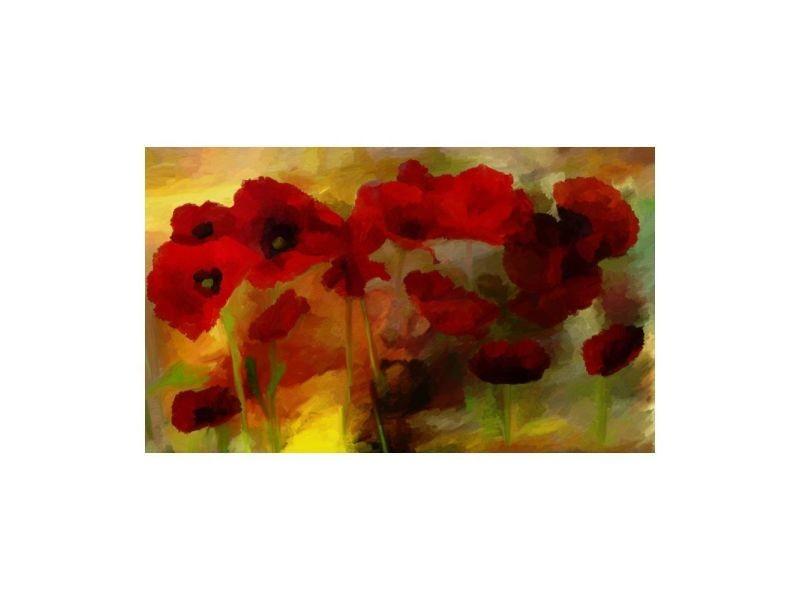 Papier peint - poppies in warm tone