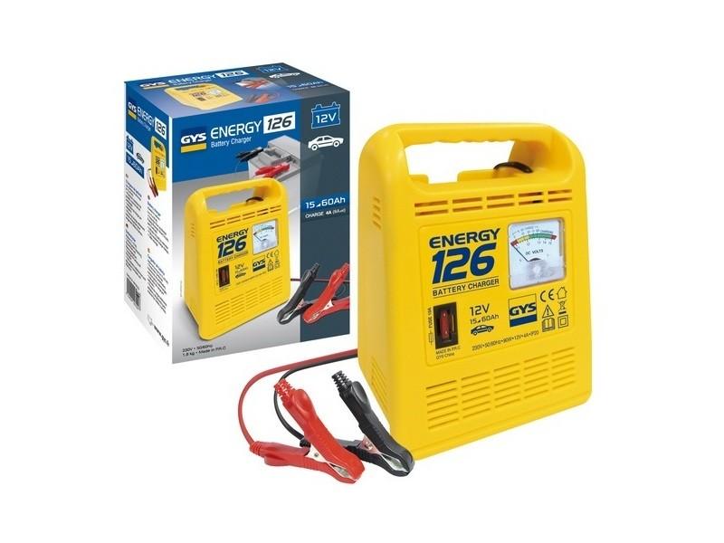 Gys - chargeur testeur de batterie 12v 45ah - energy 126