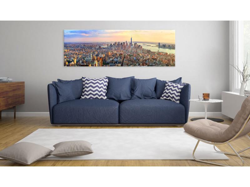 120x40 tableau new york villes contemporain new york panorama