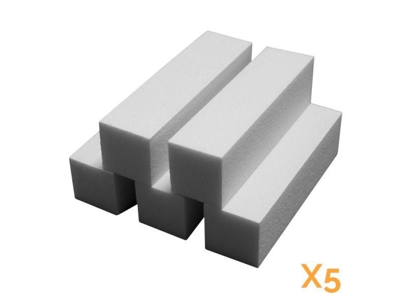 Lot de 5 blocs polissoirs 4 faces 120/120 - blanc EGK1000