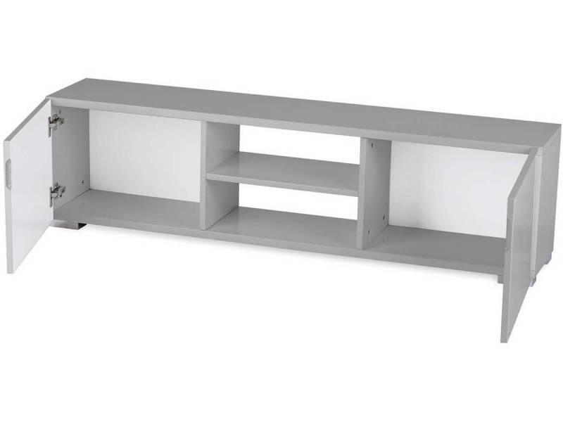 meuble tv frida 155 x 31 x 42 5 cm gris vente de habitat et jardin conforama. Black Bedroom Furniture Sets. Home Design Ideas