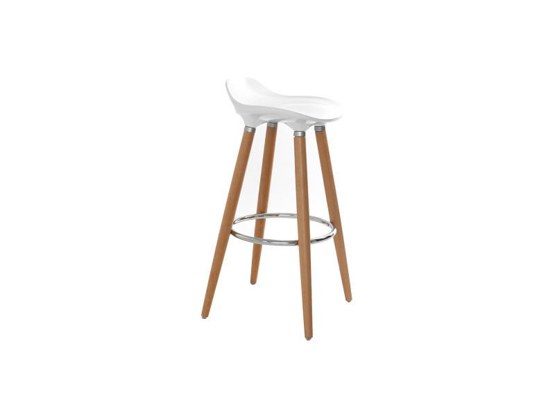 Tabouret De Bar Design Scandinave Blanc Gilda Vente De Bar Et
