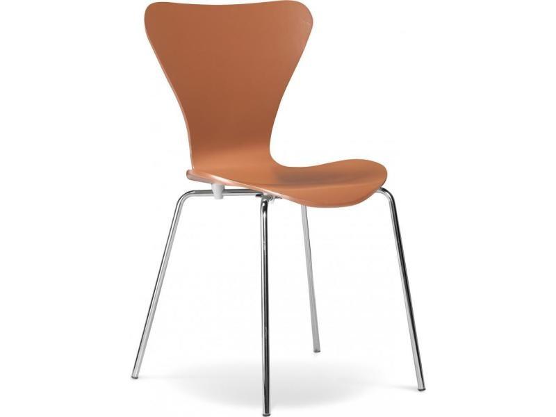 Chaise à manger série 7 arne jacobsen - bois - style marron clair
