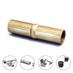 Manchon pour tube aluminium creatube ø30 mm        doré anodisé