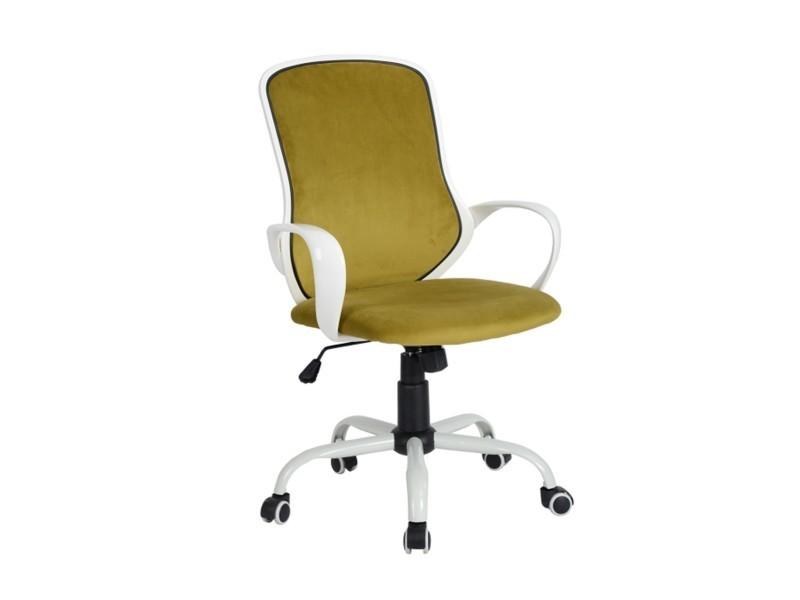 Fauteuil de bureau jaune réglable roulettes vente de fauteuil de