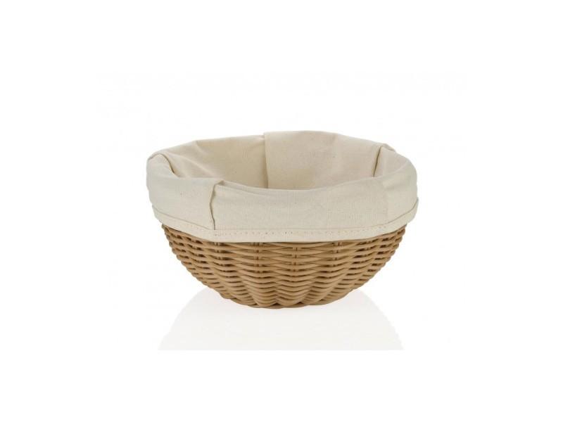 Corbeille à pain traditionnelle ronde tressée