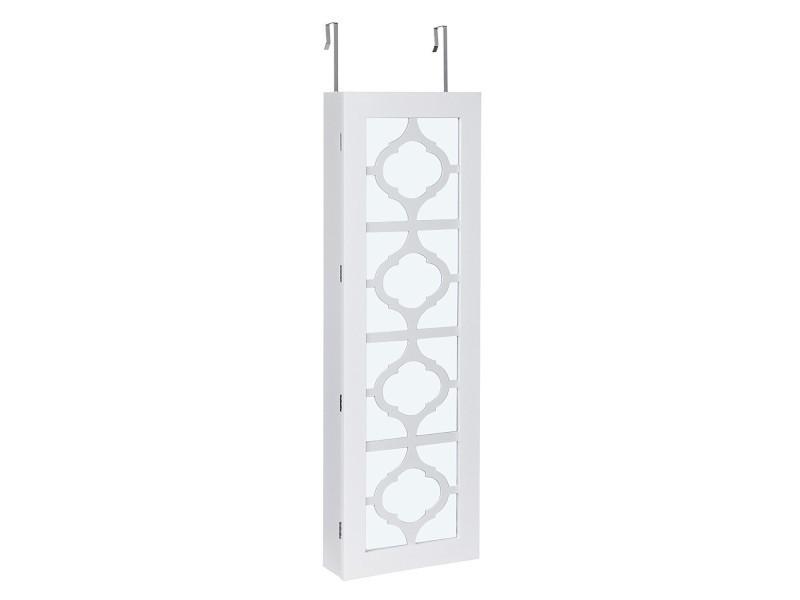 superbe armoire bijoux murale blanche avec led et. Black Bedroom Furniture Sets. Home Design Ideas