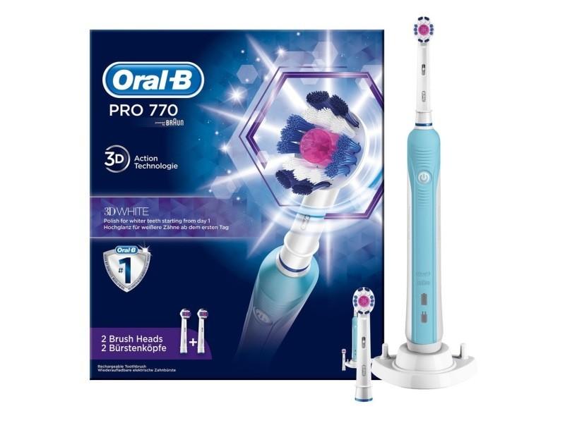Brosse à dents électrique oral-b pro 770 3d white