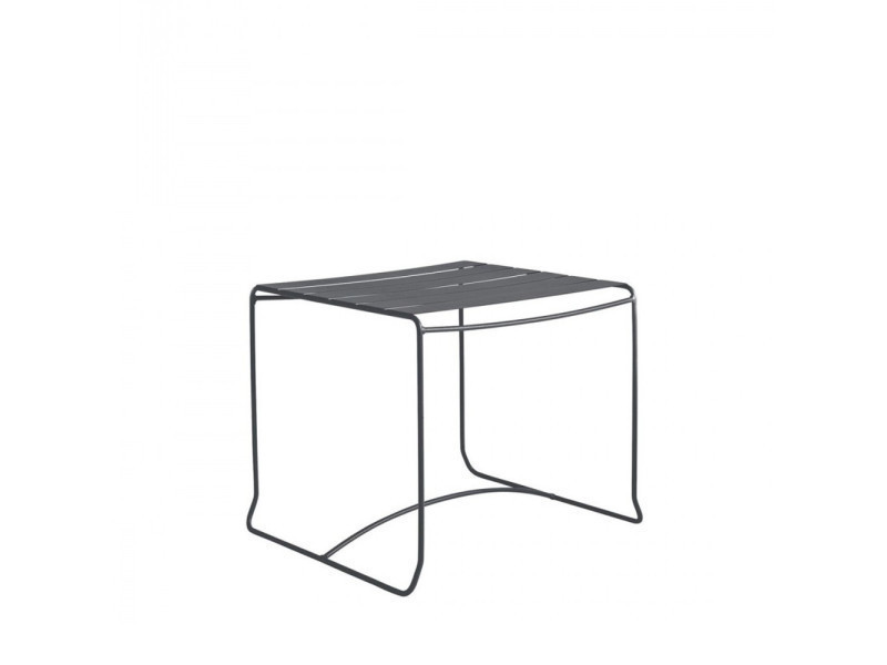 Table basse de jardin métal carrée 50x50 pasadena - couleur - gris ...