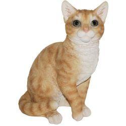 Chat assis en résine 30 cm