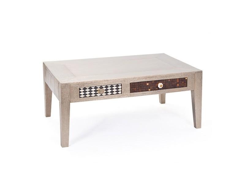 Paris prix - table basse design bois massif \