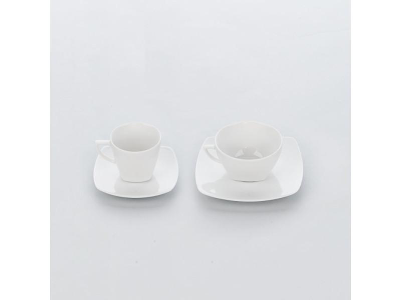 Tasse à café en porcelaine apulia 360 ml - lot de 6 - stalgast - 11 cm porcelaine 36 cl