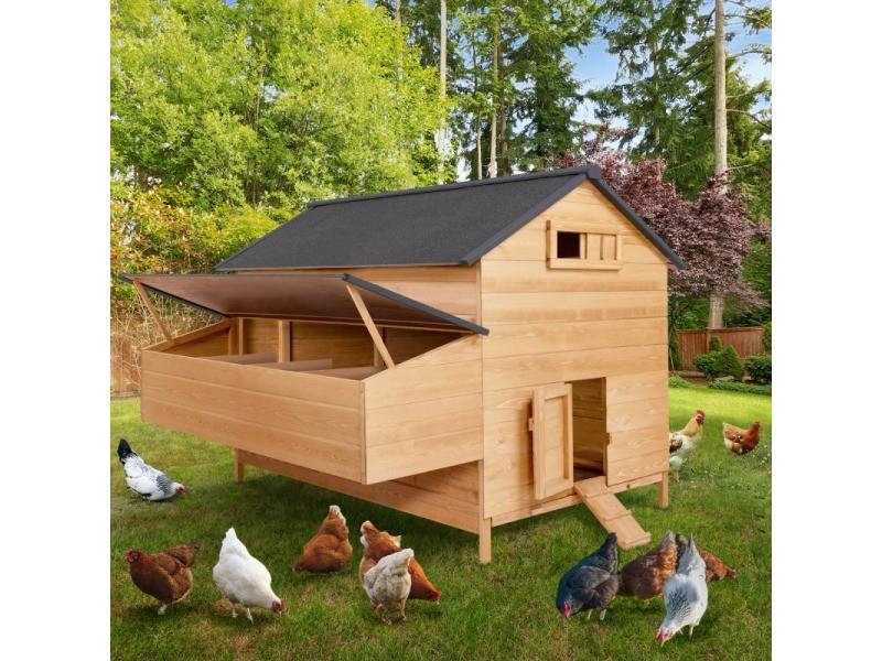 Poulailler chalet en bois 15 à 18 poules avec pondoir