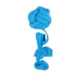 Jouet pour chien - corde 2 nœuds 15 cm - bleu