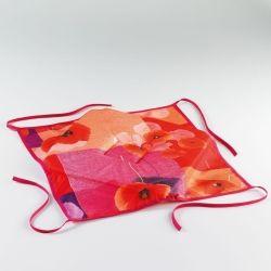 Coussin galette de chaise assise 36 x 36 cm rouge lucia
