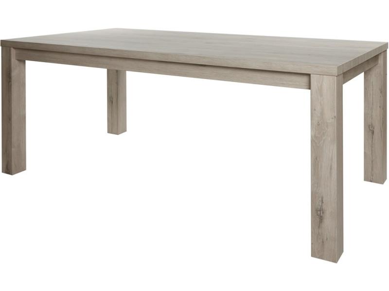 Table de salle à manger beige design en bois mdf et panneaux ...