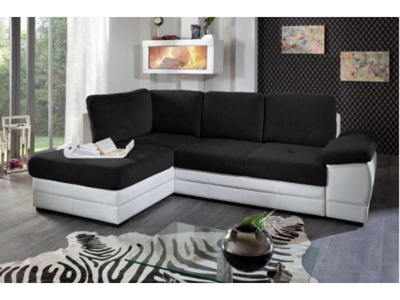 Canapé d'angle gigogne convertible sinope en bi matière méridienne gauche 20100865661