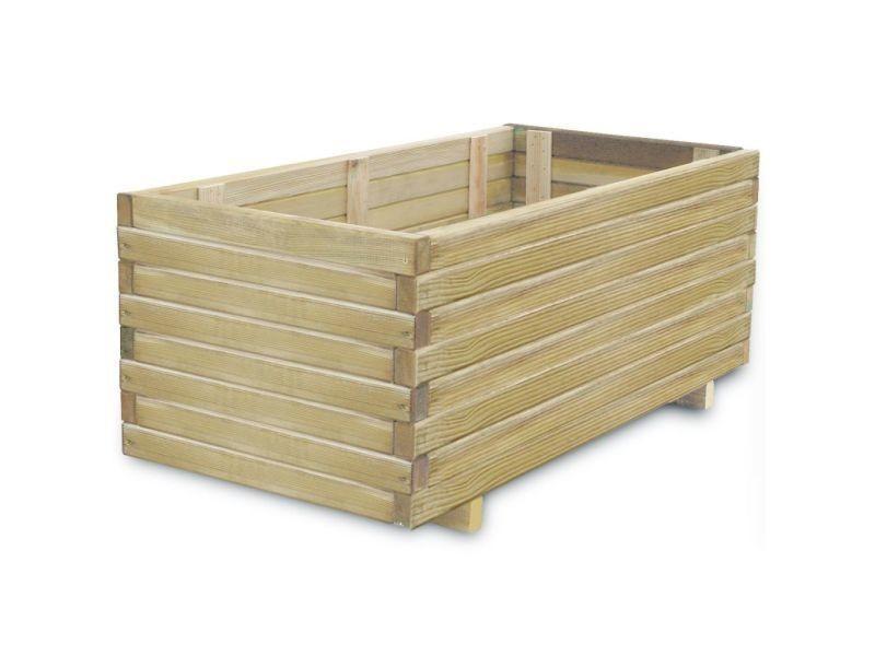 Vidaxl lit surélevé rectangulaire 100 x 50 x 40 cm bois 41660