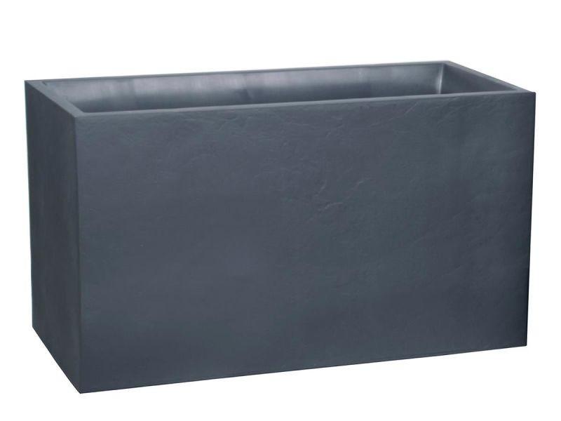 jardini re muret volcania effet pierre 116 l gris. Black Bedroom Furniture Sets. Home Design Ideas