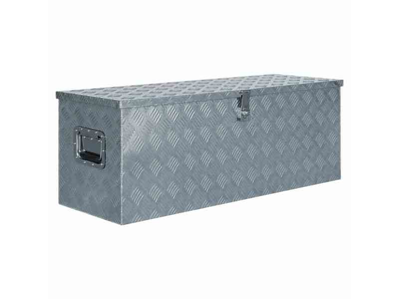Joli organisation et rangement d'outils selection helsinki boîte en aluminium 110,5 x 38,5 x 40 cm argenté