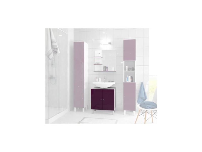 Corail meuble sous-lavabo l 60 cm - aubergine laqué MSLAUB