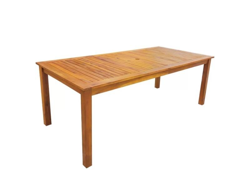 Icaverne - ensembles de meubles d'extérieur gamme meuble de jardin 7 pcs bois d'acacia massif marron 200 cm