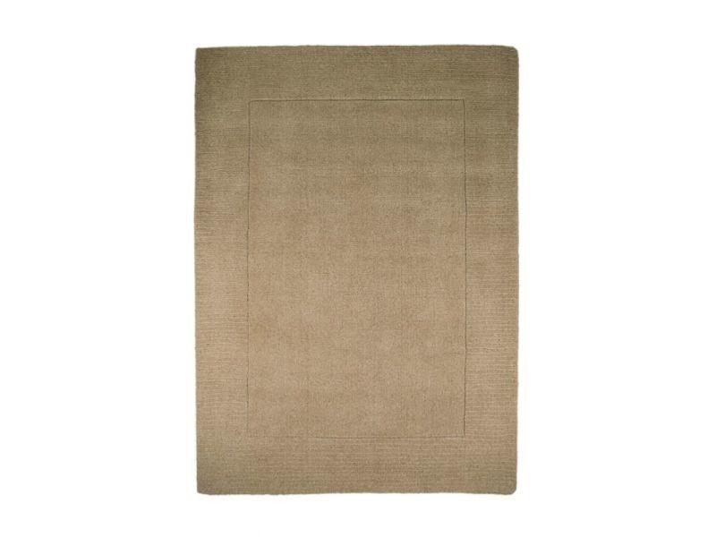 Tapis classique laine beige naturel sienna : 80 x 150 cm