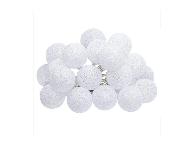 Atmosphera - guirlande décorative lumineuse blanche 20 boules led d 6 cm et l 436 cm