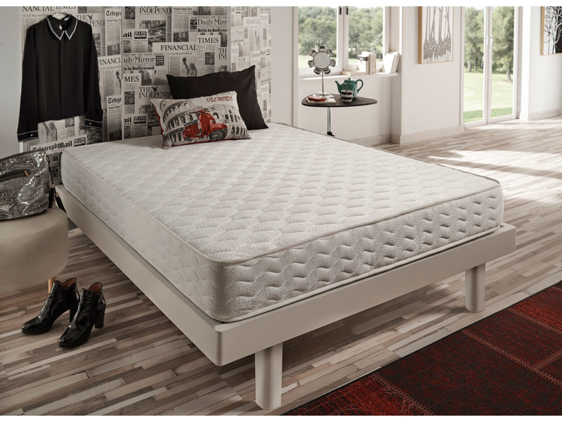matelas focus 80x190 cm naturalex coeur 100% mousse hr blue latex