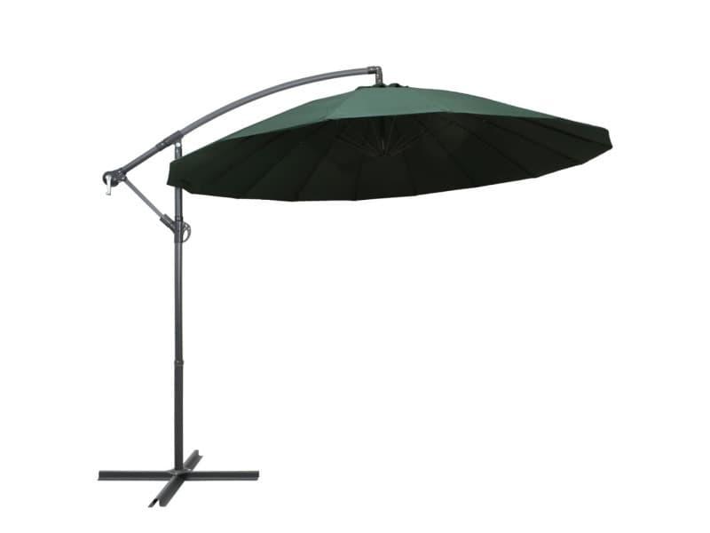Parasol suspendu vert 3 m aluminium 47221