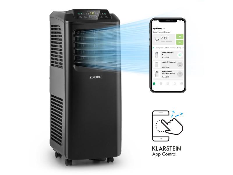 Klarstein pure blizzard smart 9k - climatiseur mobile connecté 9000 btu/2,6 kw - pour 26 á 44 m² - classe a - noir