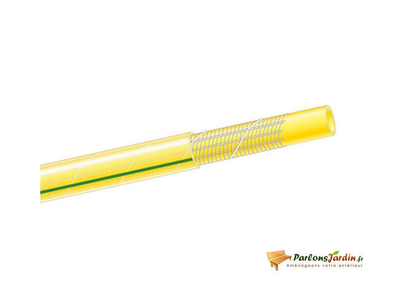 Tuyau d'arrosage tubiroll tricoté antivrille jaune ø19mm x 50m PRTA50J19