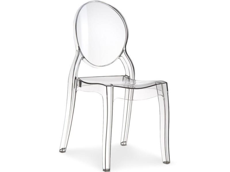 lot de 4 chaises princesse plexi transparent conforama - Chaise Plexi Transparente Conforama