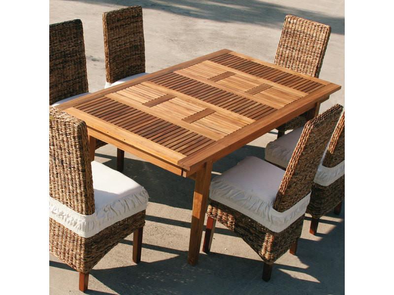 Table de jardin extensible en bois carline - Vente de Salon de ...