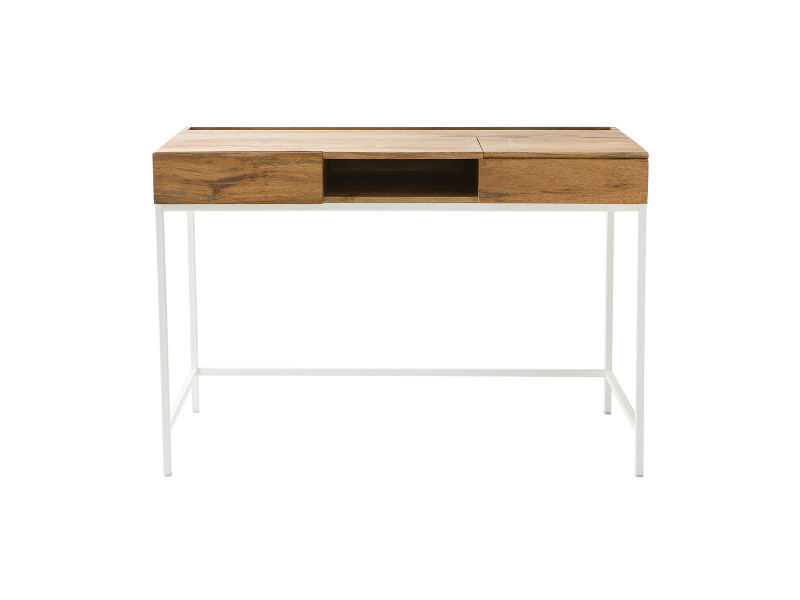 Bureau design manguier et métal blanc boho vente de bureau