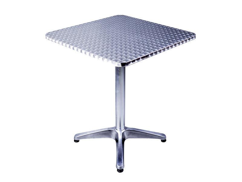 Table de bar table de cuisine salle à manger hauteur réglable plateau inox