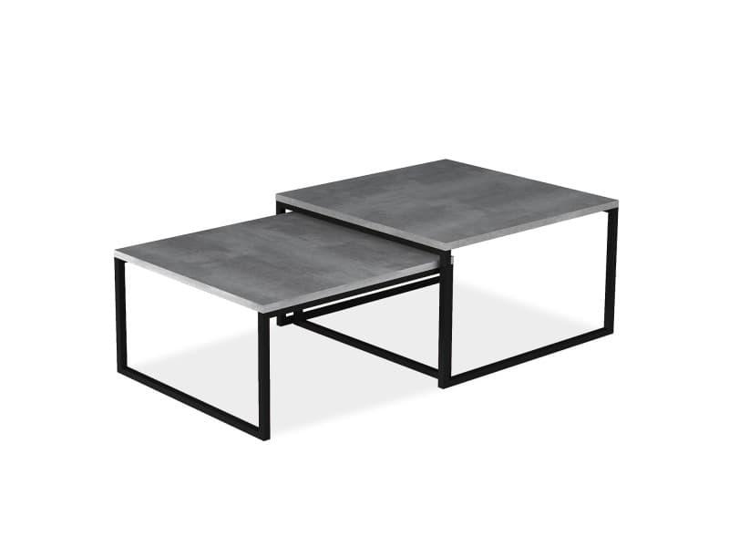 Table basse de style industriel june effet béton