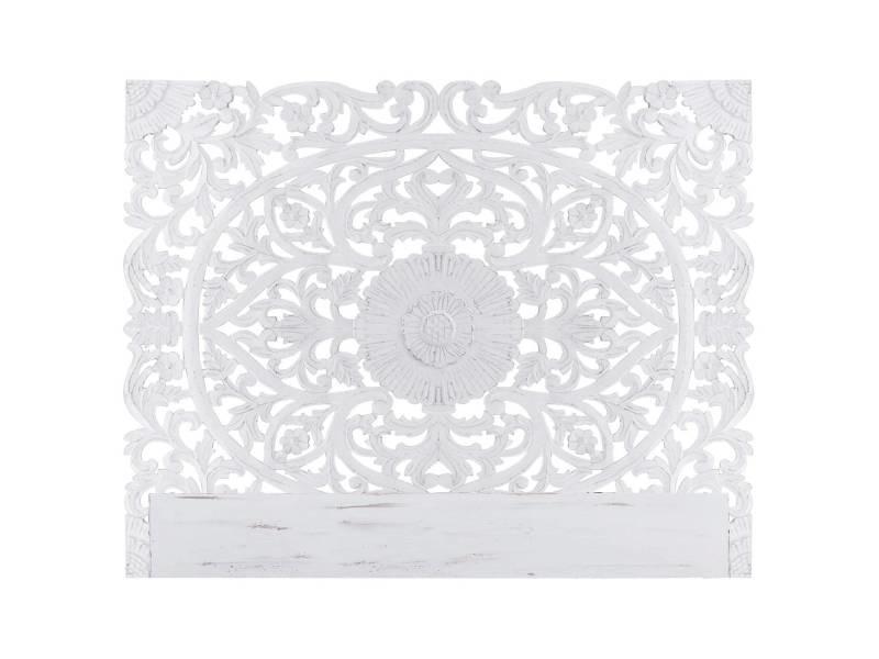 Tête de lit flora 180cm bois blanc