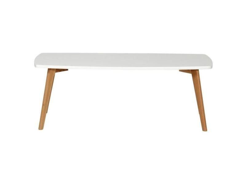 Table basse nordik table basse scandinave blanc laqué avec cadre ...