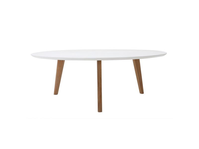Table Basse Ronde 100 Cm Blanc Ekka Vente De Table Basse