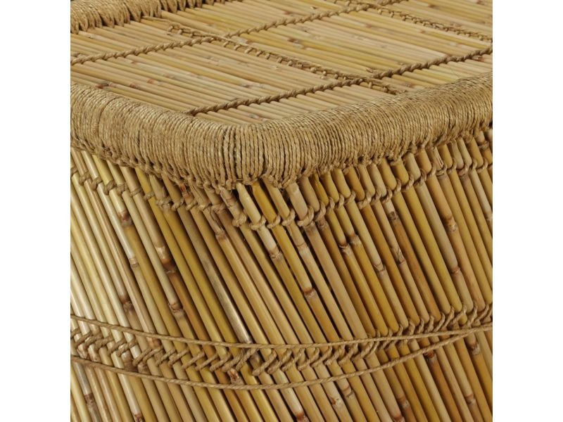 Vidaxl table basse rectangulaire 78 x 50 x 45 cm bambou 244220
