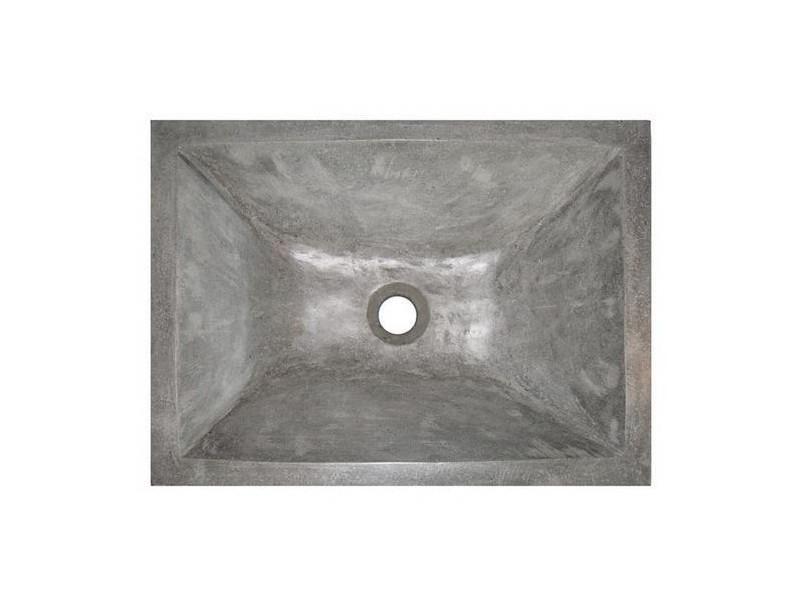 Aqua+ - vasque en terrazzo 50x37cm gris ciment - tamara