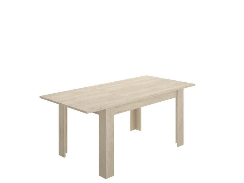 Table a manger extensible 6-8 personnes - decor chene - l 140/190 x p 90 x h 77 cm - dine VAR8435511452628