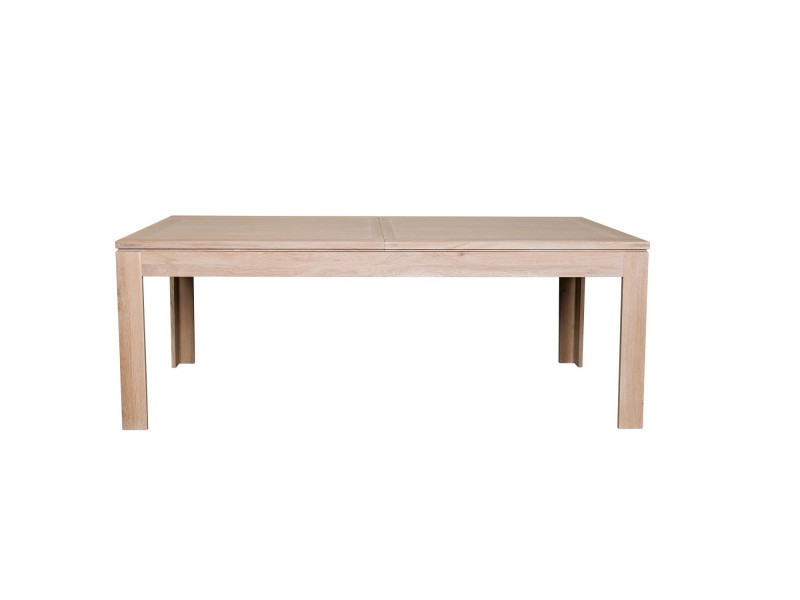 Table A Allonges En Chene Blanchi Vente De Hellin Conforama