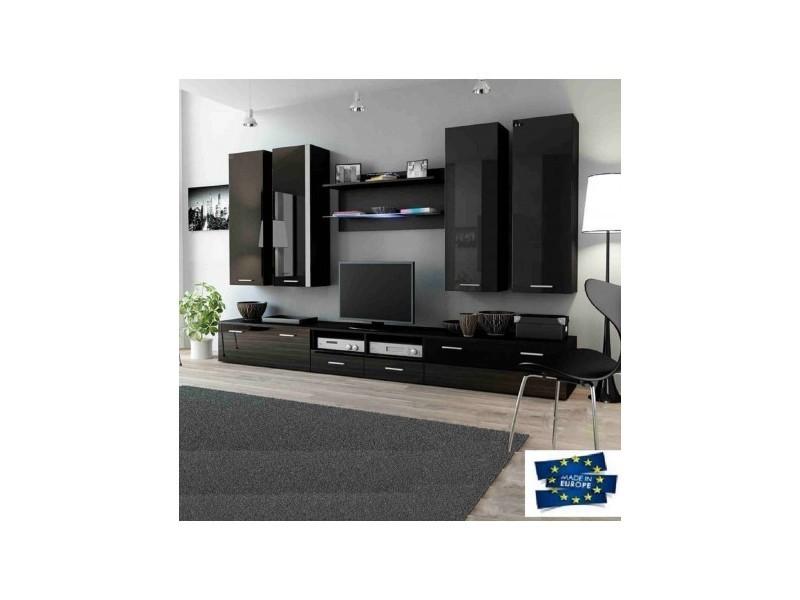 Ensemble meuble tv dream 300cm - couleur: noir